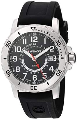 Wenger Men's Off Road GMT Stainless Steel Swiss-Quartz Watch with Silicone Strap