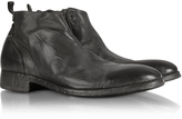 Forzieri Ebony Washed Leather Boots