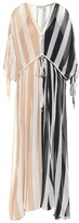 Oasis Lee Mathews crinkled silk maxi dress