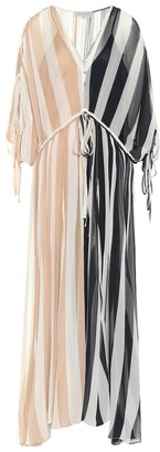 Oasis Lee Mathews crinkled silk maxi dress