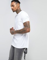 Asos Longline T-Shirt With Printed Tape Design