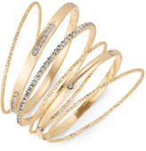Thalia Sodi Gold-Tone 6-Pc. Set Crystal & Textured Bangle Bracelets, Created for Macy's