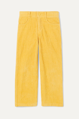 Stella McCartney Cotton-corduroy Pants - Yellow