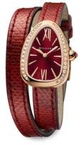 Bvlgari Serpenti 18K Rose Gold & Diamond Watch
