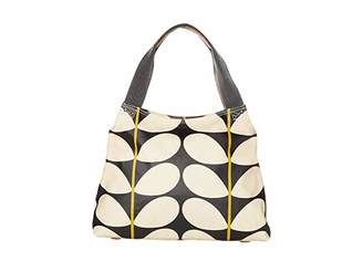 Orla Kiely Solid Stem Print Classic Zip Shoulder Bag