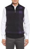 Bobby Jones Men's Oversize Plaid Wool Vest