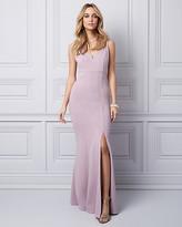 Le Château Knit Crepe V-Neck Gown