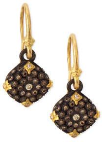 Armenta Old World Midnight Diamond Cushion Earrings