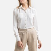 Anne Weyburn Long-Sleeved Blouse with Taped Edging