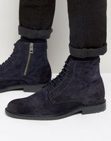 BOSS ORANGE By Hugo Boss Cultroot Suede Lace Up Boots