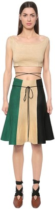 J.W.Anderson Linen Crop Top & Striped Skirt