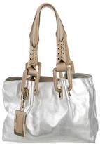 Roger Vivier Whipstitch Leather Shoulder Bag