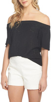 1 STATE 1.State Flounce Off the Shoulder Blouse