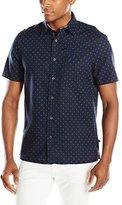Nautica Men's Printed Linen Blend Short-Sleeve Shirt