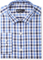 Bar III Men's Slim-Fit Navy Textured Gingham Dress Shirt, Only at Macy's