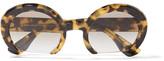Miu Miu Round-frame acetate sunglasses