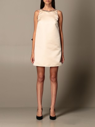 Elisabetta Franchi Dress In Duchesse With Bow