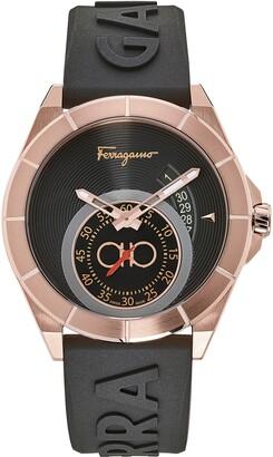 Salvatore Ferragamo Urban Silicon Strap Watch, 43mm