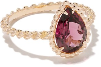 Boucheron 18kt rose gold Serpent Boheme rhodolite S motif ring