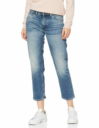 Only Women's Onlray Mid Straight Crop Jeans Rim19356