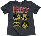 Junk Food Clothing Youth Boy's Ringer Tee Kiss Emoji Tee - Pepper