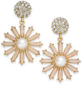 INC International Concepts I.N.C. Gold-Tone Stone & Pavé Flower Burst Drop Earrings, Created for Macy's