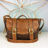 Freeload Leather Accessories Two Tone Brown Leather 'Cleo' Handbag