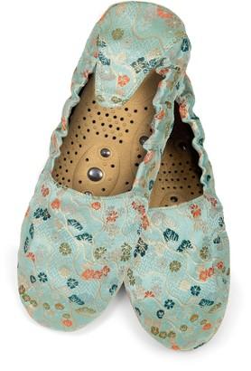 Holistic Silk Japanese Jade Slippers - Small