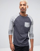 Esprit Long Sleeve Top in Blue Marl