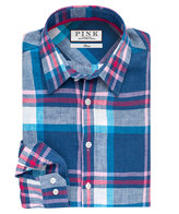 Thomas Pink Lovell Check Classic Fit Button Cuff Shirt