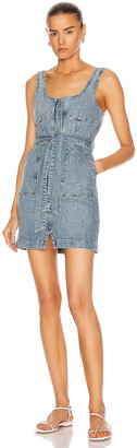 Jonathan Simkhai Kalani Denim Dress in Blasted Wash | FWRD