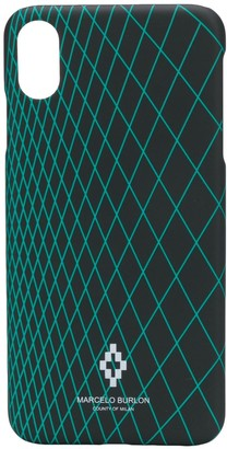 Marcelo Burlon County of Milan geometric-print iPhone XS Max case