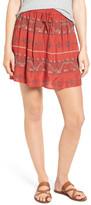 Hinge Embroidered Miniskirt