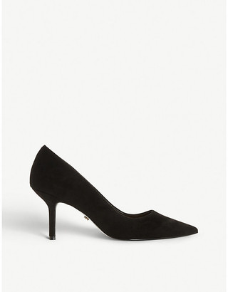 Dune Annalie pointed-toe faux-suede heeled courts