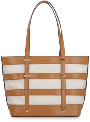 Michael Kors Marie Canvas And Leather Tote Bag