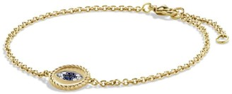 David Yurman Cable Collectibles Pave Cable Evil Eye Charm with Diamonds in 18K Gold