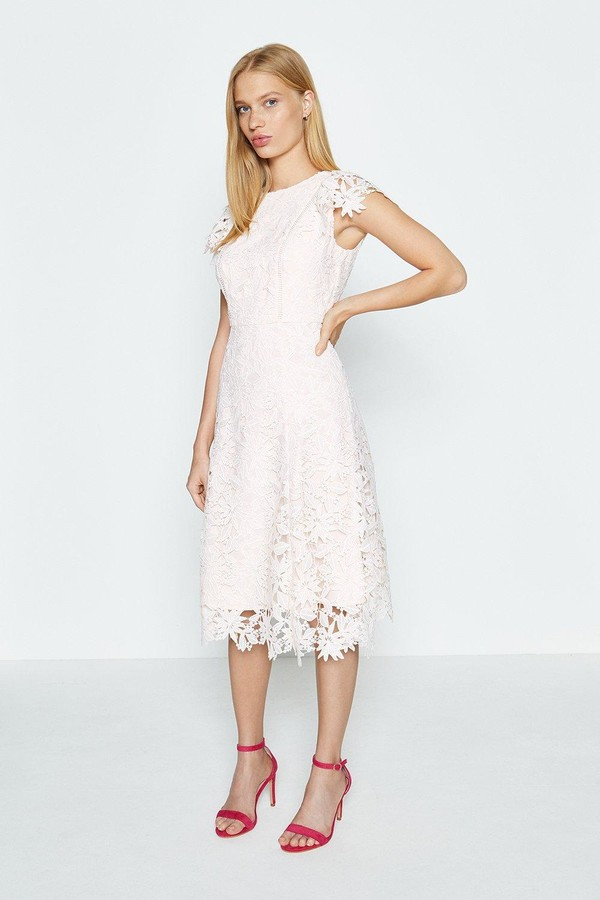 Coast Lace Angel Sleeve Dress