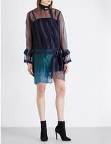 Sacai Buckle-detailed organza dress