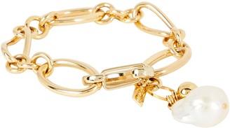 Mounser Waxing Chain-Link Pearl Bracelet