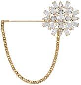 Dolce & Gabbana crystal flower chain pin