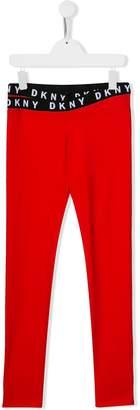 DKNY TEEN logo band leggings