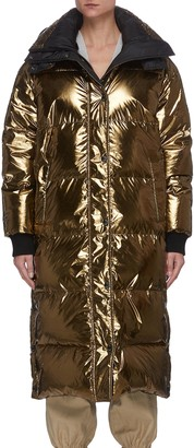 Army by Yves Salomon Reversible Hooded Long Puffer Coat