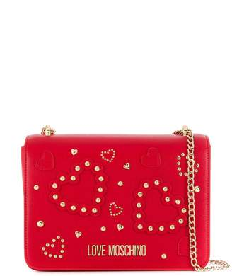 Love Moschino studded heart shoulder bag