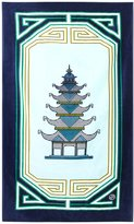 Jonathan Adler Luxembourg Pagoda Beach Towel - Light Blue/Navy