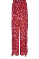 Tomas Maier Silk Patch Print Pants