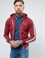 Fred Perry Sports Authentic Hooded Track Jacket in Red