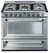 Smeg Victoria 36-Inch Free-Standing Gas Range in Stainless Steel