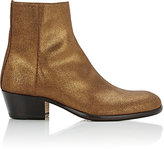 Maison Margiela Women's Metallic Suede Ankle Boots-BROWN