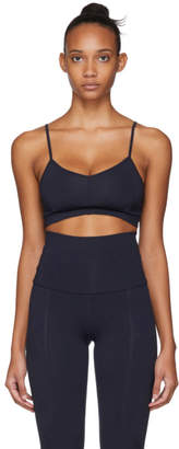 Live The Process Navy Corset Sports Bra