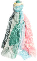 Furla Toni Multicoloured Paint Print Modal Scarf